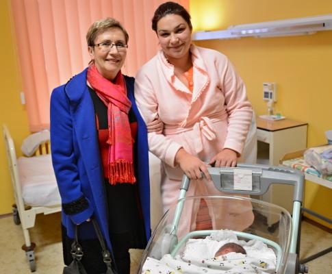 První miminko narozené v Čáslavské nemocnici v roce 2016